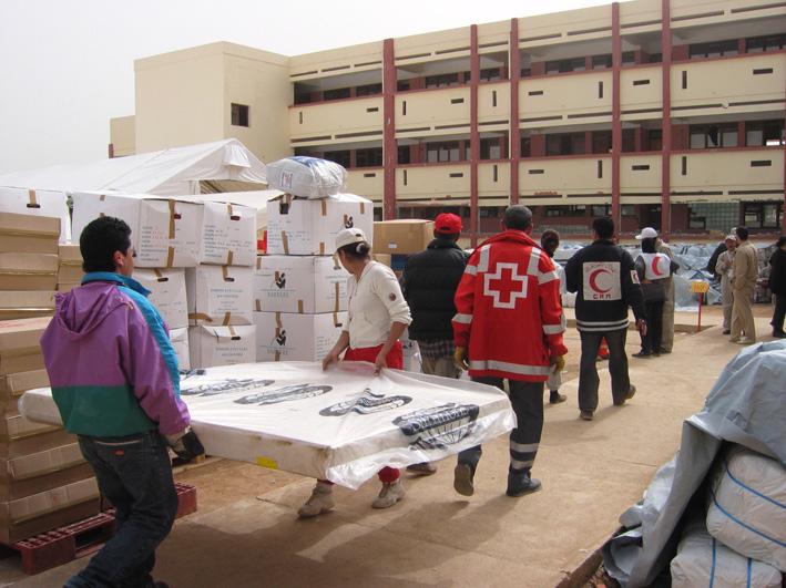 Suite au séïsme au Maroc en 2003, Partage plus en action